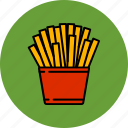 fast, food, fries, junk, potato icon