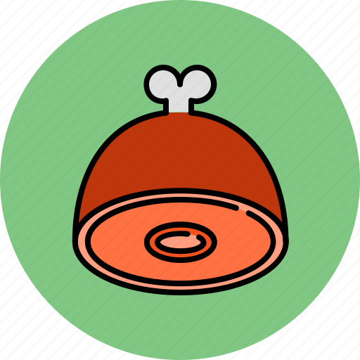 food, ham, meat icon