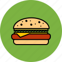 burger, cheeseburger, fast, food, hamburger, junk icon