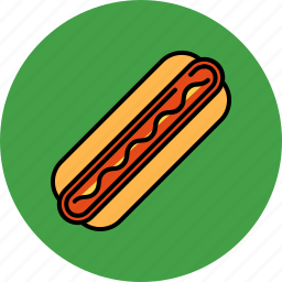 fast, food, hotdog, junk, sausage icon