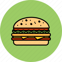 burger, cheeseburger, fast, food, hamburger, junk, large icon
