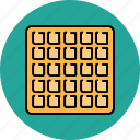 breakfast, food, large, sweet, waffle icon