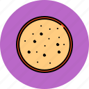 bread, breakfast, food, round, slice, wheat icon