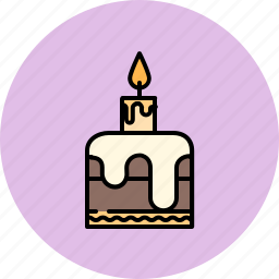 Birthday cake candle chocolate small icon Icon search engine