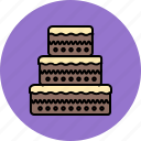 cake, chocolate, food, sweet, tiered, wedding