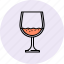 alchohol, brandy, drink, glass, wine icon