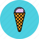 cold, cone, cream, dessert, ice, sweet icon
