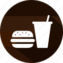 burger, drink, eating, fast food, food, meal, restaurant icon