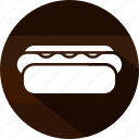 eating, food, hot, hot dog, sausages burger, snack icon