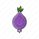 food, ingredient, onion, vegetable icon icon