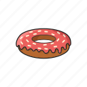 circle, donut, police, sweet icon
