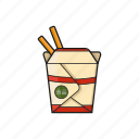 chinese, fastfood, food, food boxes icon icon