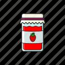 breakfast, food, jam, jam jar, marmalad icon