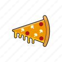 food, junk food, pizza, slice icon icon