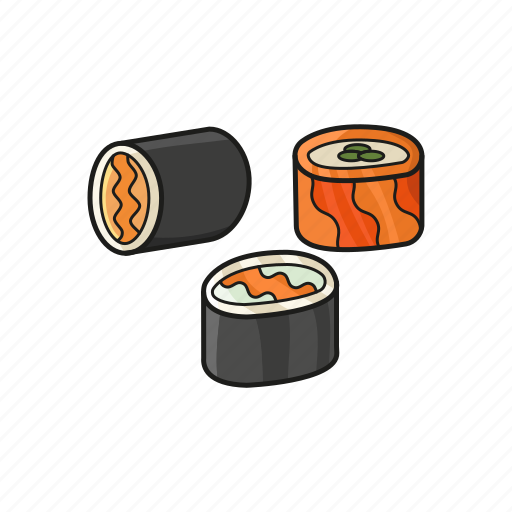 food, japanese, roll, salmon, sushi icon icon