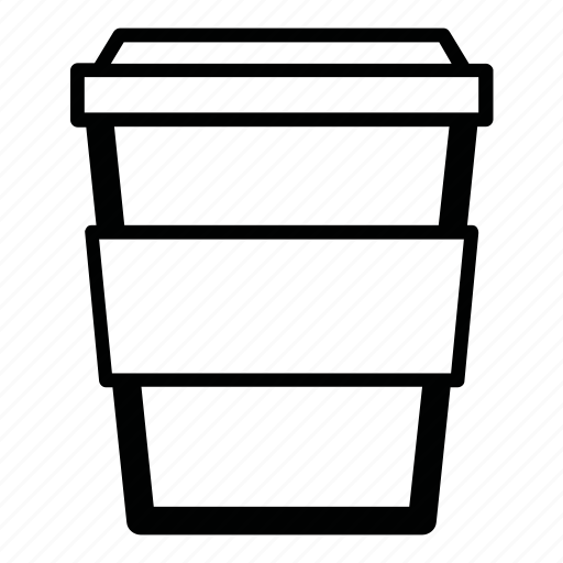 coffee, cup, drink, hot, paper cup, tea, to go icon
