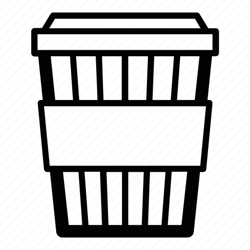 cappuccino, coffee, cup, drink, hot, paper cup, to go icon
