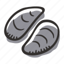 allergens, animal, food, meat, mollusc, mollusk, seafood icon