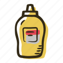 allergens, allergy, food, ingredient, mustard, sauce icon
