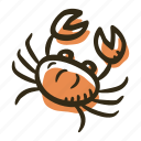 allergens, allergy, animal, crab, food, meat, seafood icon