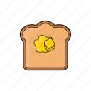 bread, breakfast, butter, food, pancake icon icon