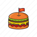 burger, fastfood, food, hamburger icon icon icon
