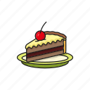 bake, cake, dessert, food, pie icon icon