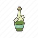 condiment, food, ingredients, jug, oil icon icon