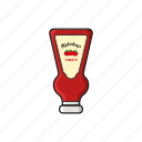 cooking, food, ketchup, meal, snack icon icon