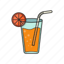 cold, drink, glass, juice icon icon