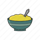 food, meal, pot, soup, spoon icon icon
