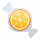 chew candy, confectionery, sweet, toffee, wrapped candy icon