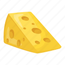 cheese, cheese block, cheese slice, dairy product, food icon