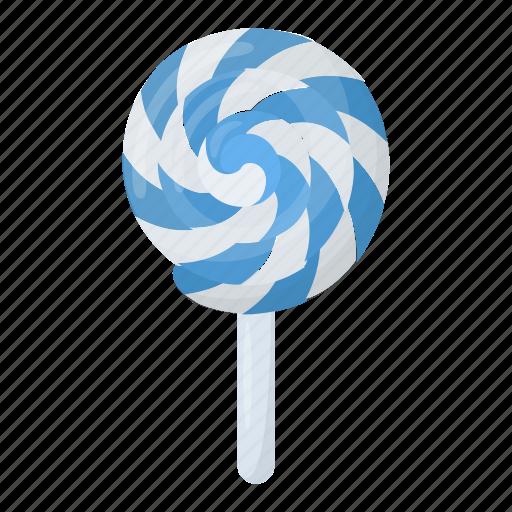 lollipop, lolly, rainbow lolly, spiral lolly, swirl lolly icon
