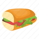 food, baguette, baguette sandwich, french bread, bread icon