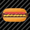 hotdog burger, fast food, hotdog, junk food, hotdog sandwich icon
