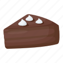 bakery food, cake piece, cake slice, chocolate cake, sweet food icon