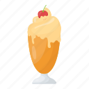 dessert, ice-cream, sundae, sundae glass, sweet icon