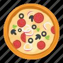 food, italian food, junk food, fast food, pizza icon