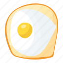 breakfast, egg, food, fried egg, fry egg icon