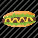 fast food, wiener, frankfurter, junk food, hotdog icon