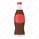 carbonated drink, cola bottle, drink, soft drink, sweetened drink icon