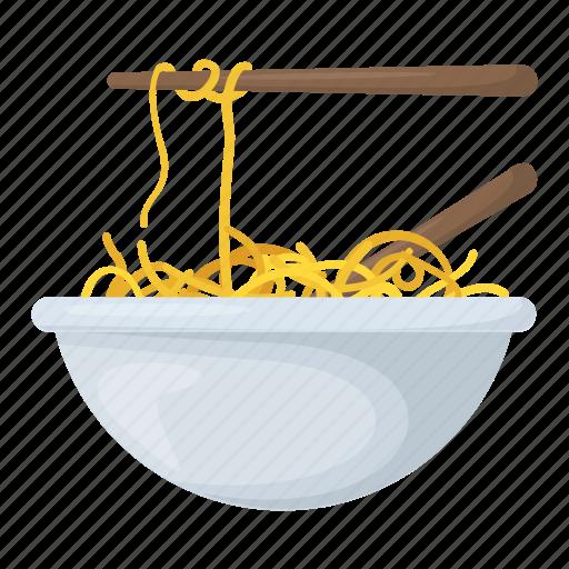 chopsticks, noodles, spaghetti, staple food, vermicelli icon
