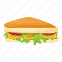 toast, bread, sandwich, refreshment, snacks icon