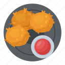 chicken bites, chicken nuggets, chicken wings, snack box, snacks icon