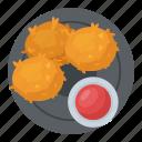 snack box, chicken bites, chicken nuggets, chicken wings, snacks icon