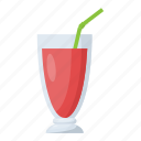 fresh juice, glass of juice, natural drink, summer drink, watermelon juice icon