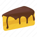 bakery food, cake piece, cake slice, dessert, sweet food icon