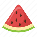 food, fruit, juicy fruit, watermelon, watermelon slice icon