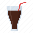 carbonated drink, cola glass, drink, soft drink, sweetened drink icon